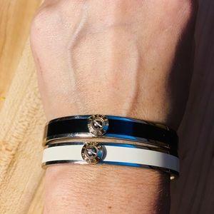 2 henri bendel bangle bracelets.